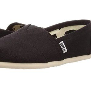 Toms Women's Classic Black Canvas Size 7.5 NEW